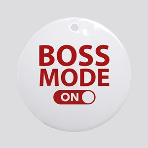 Boss Mode On Ornament (Round)