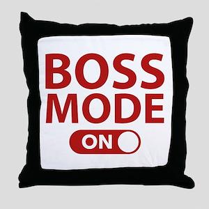 Boss Mode On Throw Pillow