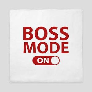 Boss Mode On Queen Duvet