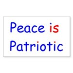 Peace is Patriotic Rectangle Sticker