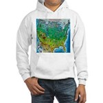 USA Cartoon Map Hooded Sweatshirt
