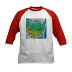 USA Cartoon Map Kids Baseball Jersey