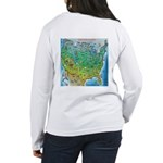USA Cartoon Map Women's Long Sleeve T-Shirt