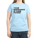 Your Ignorance Is Their Power Women's Light T-Shir