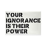 Your Ignorance Is Their Power Rectangle Magnet