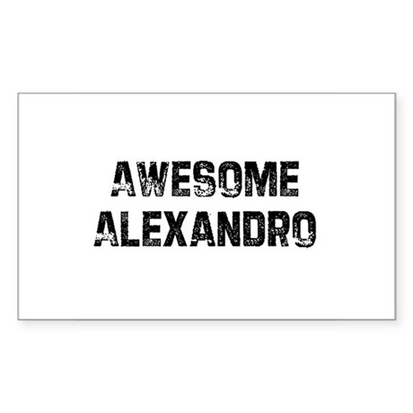 Awesome Alexandro Rectangle Sticker