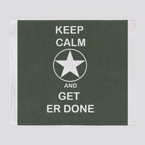 Keep Calm and Get ER Done Throw Blanket