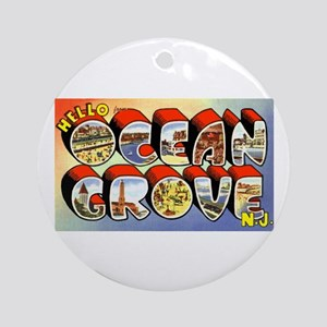 Ocean Grove New Jersey Greetings Ornament (Round)