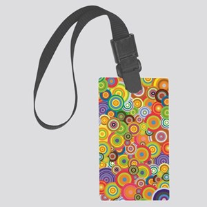 Many colors rings Large Luggage Tag