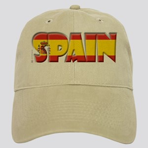 Word Art Flag Spain Cap