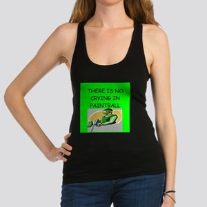 paintball gifts Racerback Tank Top