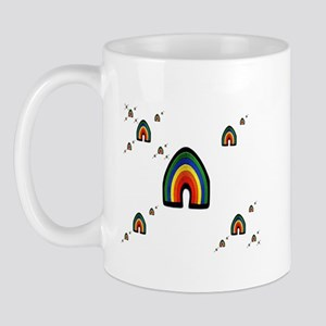 MULIPLE RAINBOWS ON WHITE Mug