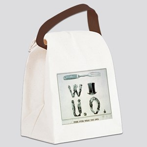 Fork over what you owe - 1868 Canvas Lunch Bag