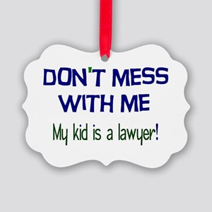 My Kid's a Lawyer Picture Ornament