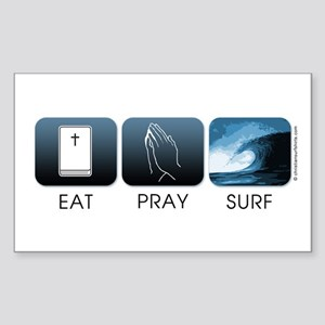 Eat, Pray, Surf Sticker