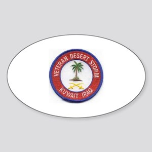 Desert Storm/Kuwait/Iraq.. Oval Sticker