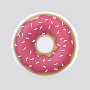 """pink frosted sprinkles donut doughnut 3.5"""" Button"""