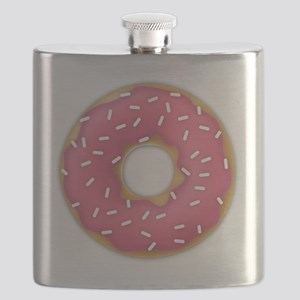 pink frosted sprinkles donut doughnut Flask
