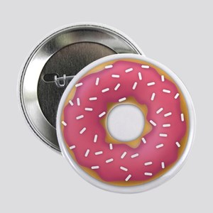 """pink frosted sprinkles donut doughnut 2.25"""" Button"""