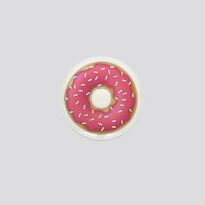 pink frosted sprinkles donut doughnut Mini Button