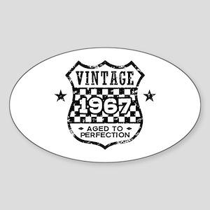 Vintage 1967 Sticker (Oval)