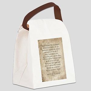 Saint Michael the Archangel Canvas Lunch Bag