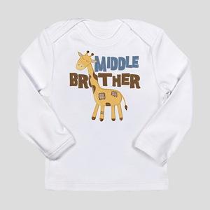 Middle Bro Giraffe Long Sleeve T-Shirt