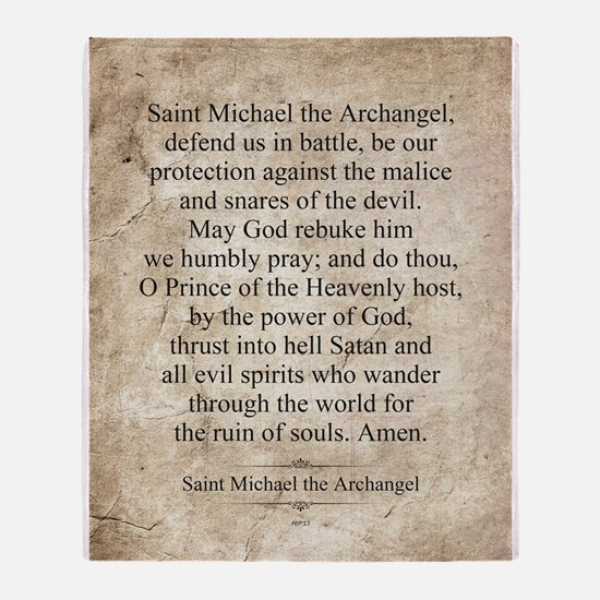 Saint Michael the Archangel Throw Blanket