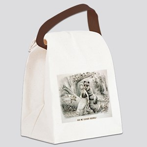 Hug me closer George - 1886 Canvas Lunch Bag