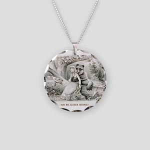 Hug me closer George - 1886 Necklace Circle Charm