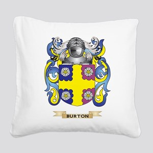 Burton Coat of Arms Square Canvas Pillow