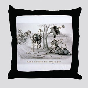 Hung up- with the starch out - 1878 Throw Pillow