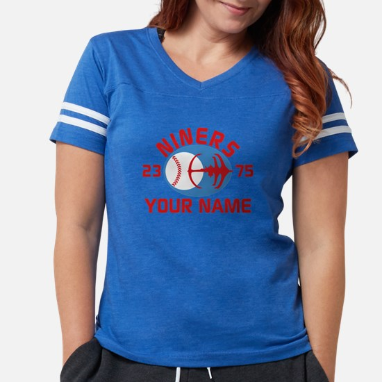 YOUR NAME Niners Baseball Star Trek DS9 Womens Foo