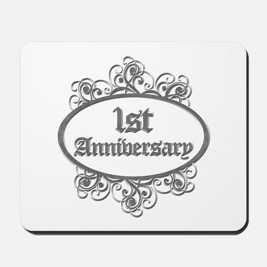 1st Wedding Aniversary (Engraved) Mousepad