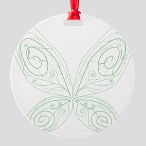 Pixie Wings Round Ornament