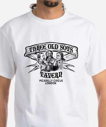 Three Old Sots Tavern White T-Shirt