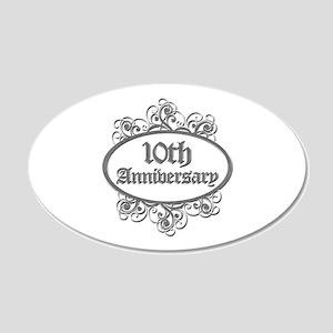 10th Wedding Aniversary (Engraved) 20x12 Oval Wall
