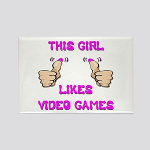 This Girl Likes Video Games Rectangle Magnet