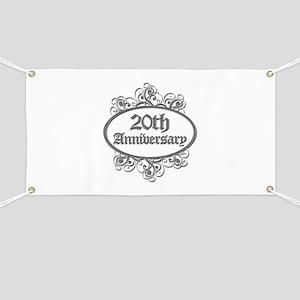 20th Wedding Aniversary (Engraved) Banner