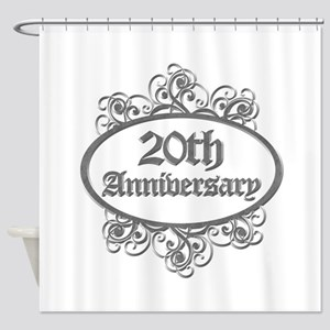 20th Wedding Aniversary (Engraved) Shower Curtain