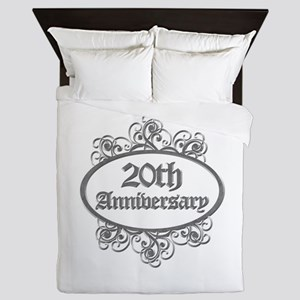 20th Wedding Aniversary (Engraved) Queen Duvet