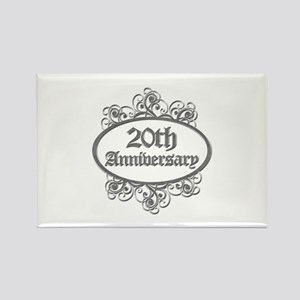20th Wedding Aniversary (Engraved) Rectangle Magne