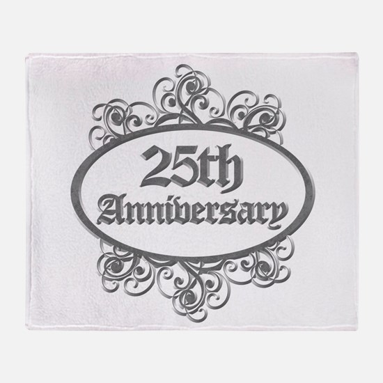 25th Wedding Aniversary (Engraved) Throw Blanket
