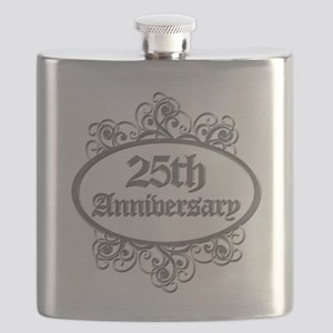 25th Wedding Aniversary (Engraved) Flask