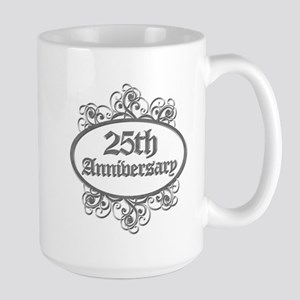 25th Wedding Aniversary (Engraved) Large Mug