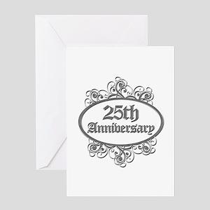 25th Wedding Aniversary (Engraved) Greeting Card