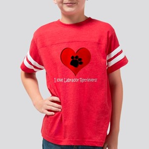 x bts i love labs Youth Football Shirt