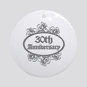 30th Wedding Aniversary (Engraved) Ornament (Round