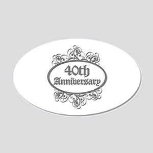 40th Wedding Aniversary (Engraved) 20x12 Oval Wall
