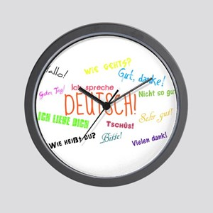 White Background Wall Clock